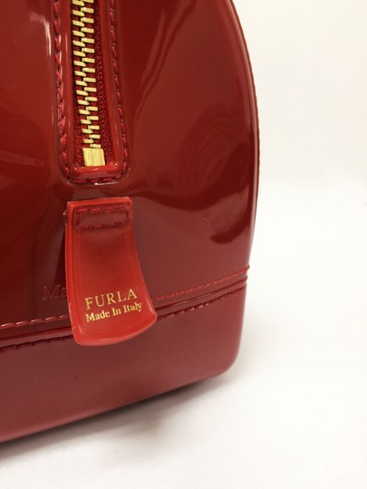 Furla Candy Red Cookie Pvc Satchel in Mini Cabernet Image 8