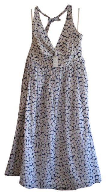 Item - Blue and White Halter Long Casual Maxi Dress Size 14 (L)