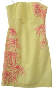 Lilly Pulitzer short dress Yellow and Hotty Pink on Tradesy