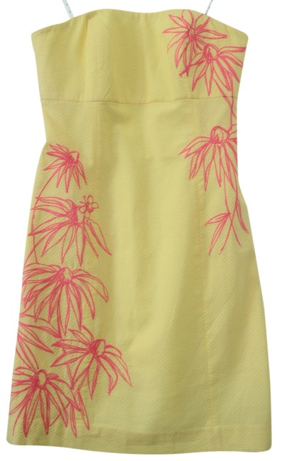 Preload https://item1.tradesy.com/images/lilly-pulitzer-dress-yellow-and-hotty-pink-3909760-0-0.jpg?width=400&height=650