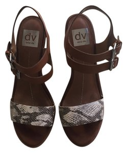 DV by Dolce Vita Natural Snake Wedges