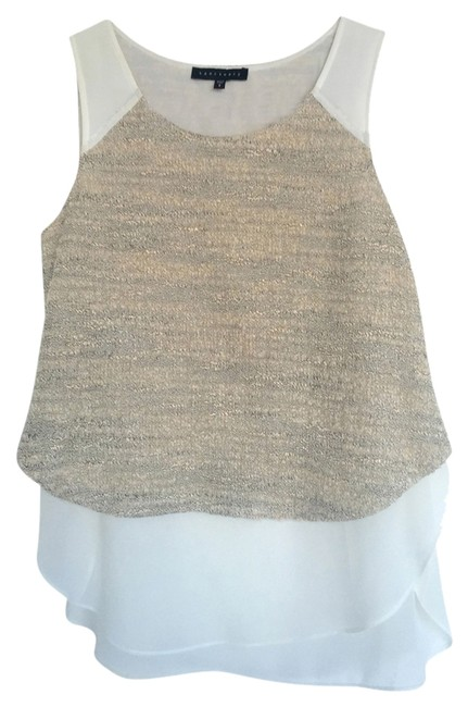 Sanctuary Clothing Top White and light silver