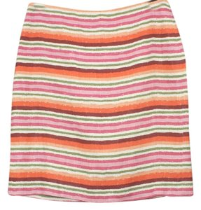 Talbots Linen Pencil Skirt Multicolor