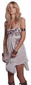 Free People short dress White, Burgundy on Tradesy