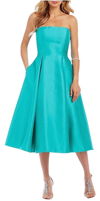 Adrianna Papell Strapless Tea Length Dress