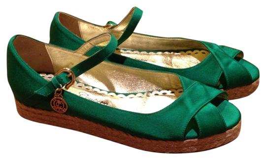 Preload https://item1.tradesy.com/images/juicy-couture-green-wedges-size-us-85-3910855-0-0.jpg?width=440&height=440