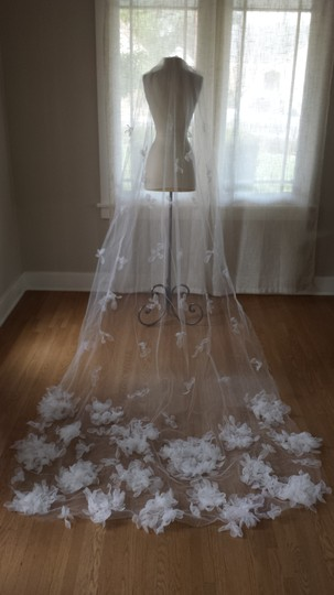 Cathedral Length Floral Veil