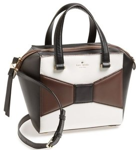 Kate Spade York Park Avenue Brown Leather Satchel in White