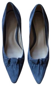Talbots Pointed Toe Genuine Suede Slate Blue Pumps