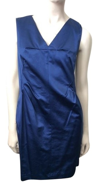 Preload https://img-static.tradesy.com/item/3911740/robert-rodriguez-blue-satin-mid-length-short-casual-dress-size-6-s-0-0-650-650.jpg