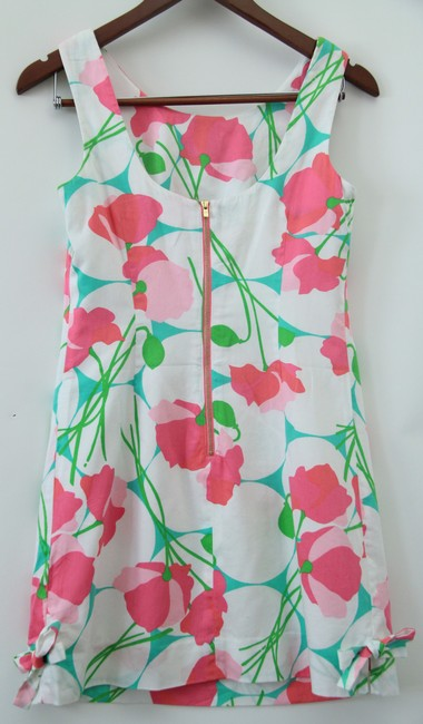 Lilly Pulitzer short dress white floral Cotton on Tradesy