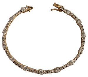 Other 14k Gold CZ Bracelet.