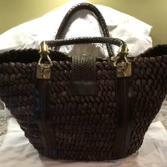 Michael Kors Brown with Gold Accents Beach Bag