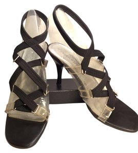 Donald J. Pliner Crepe Elastic Clear Couture Black/Clear Sandals