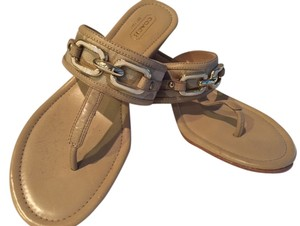 Coach Beige and Ivory Sandals