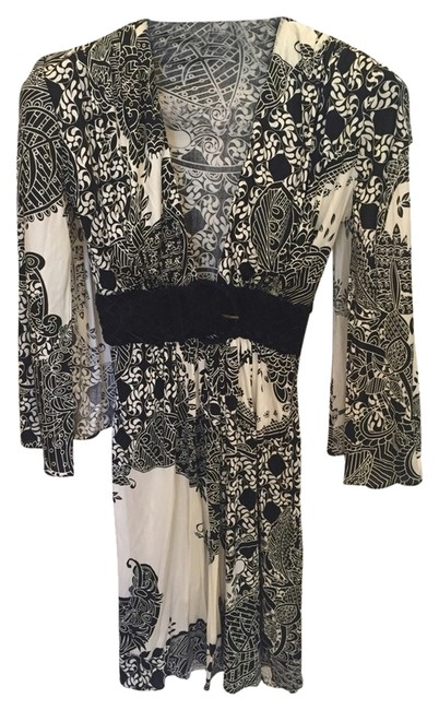 Preload https://item1.tradesy.com/images/sky-ivory-and-black-silk-night-out-dress-size-2-xs-3912850-0-0.jpg?width=400&height=650