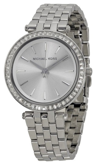 Michael Kors Michael Kors Silver Dial Crystal Bezel Stainless Steel Ladies Watch