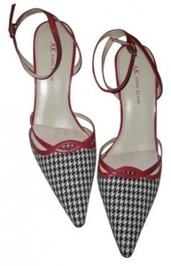 AK Anne Klein Black White & Red Sandals
