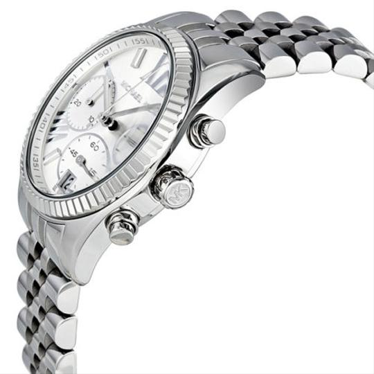 Michael Kors Michael Kors Silver Dial Chronograph Stainless Steel Ladies Watch