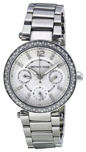 Michael Kors Michael Kors Crystal Pave Bezel Silver Tone Ladies Watch