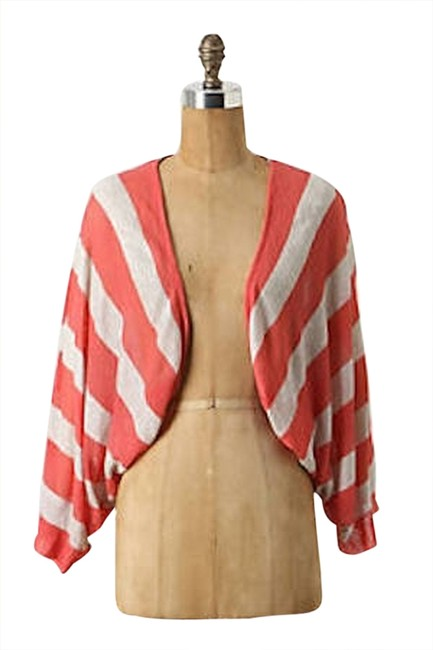 Preload https://img-static.tradesy.com/item/3913774/anthropologie-coral-and-cream-moth-cardigan-size-6-s-0-0-650-650.jpg