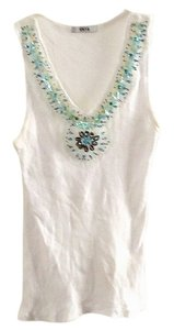 Unyx Sequin Stretchy Cotton Top white