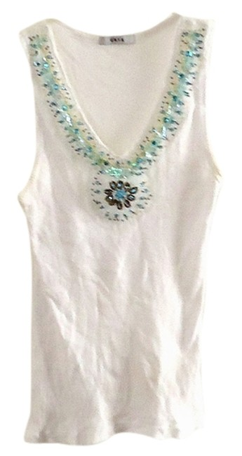 Unyx Sequin Stretchy Cotton Top white Image 0