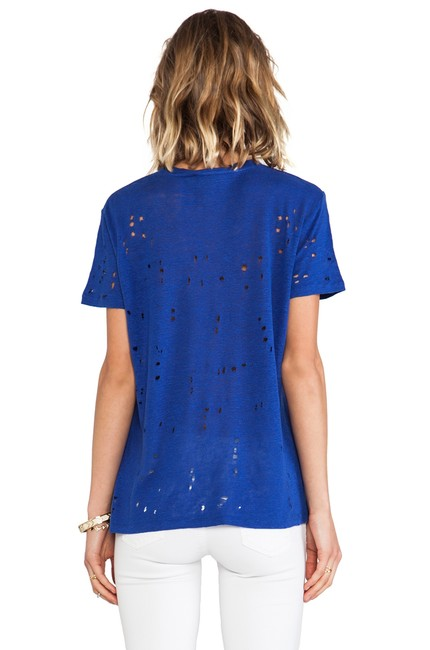 IRO Alice + Olivia Nasty Gal Reformation Helmut Lang Alexander Wang T Shirt Blue