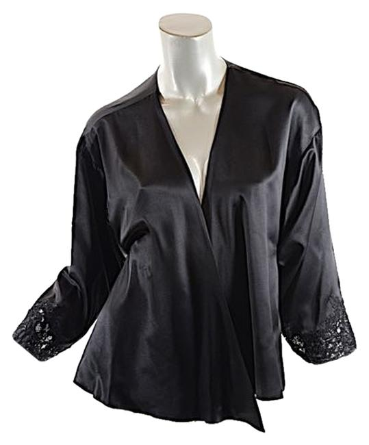 Preload https://item1.tradesy.com/images/valentino-couture-black-silk-satin-wrap-jacket-wlace-cuffs-cardigan-size-12-l-3915100-0-0.jpg?width=400&height=650