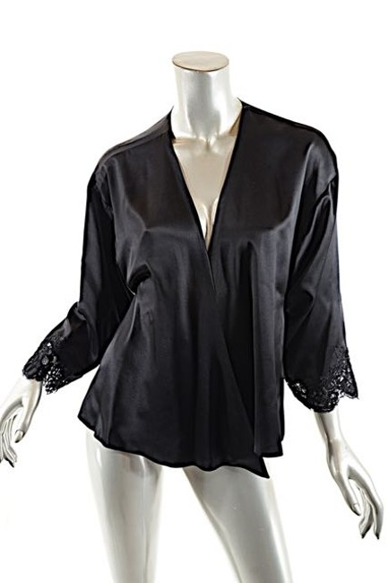 Valentino Couture Satin Wrap Lace Cardigan