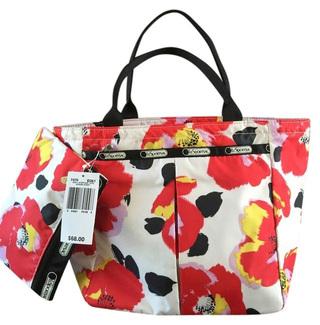 Item - Girl Everyday Garden Poppy White Red Yellow and Black Tote