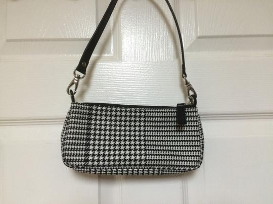 Ralph Lauren Small Purse Hand Shoulder Houndstooth Baguette