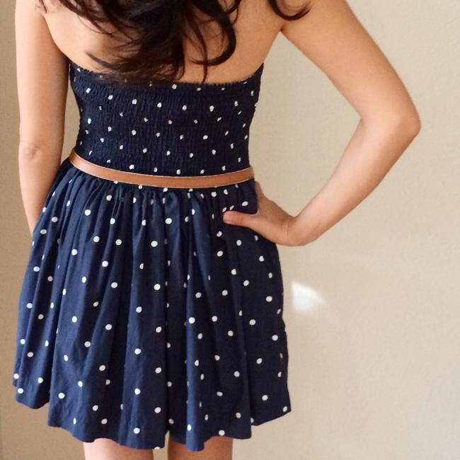 Abercrombie & Fitch short dress Navy Blue with White Polka Dots Cotton Flirty Summer on Tradesy Image 1