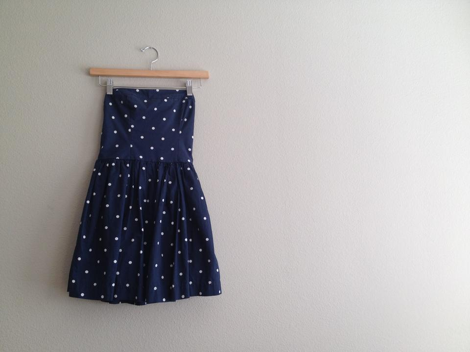 2a426a0e7d Abercrombie   Fitch short dress Navy Blue with White Polka Dots Cotton  Flirty Summer on Tradesy. 1234
