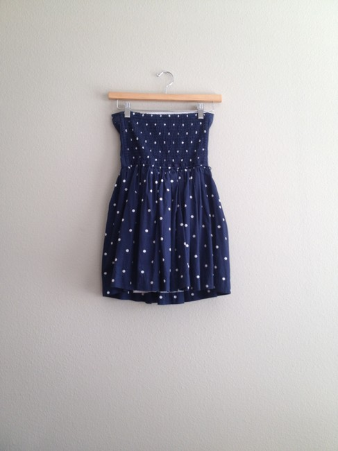 Abercrombie & Fitch short dress Navy Blue with White Polka Dots Dot Cotton Flirty Summer on Tradesy