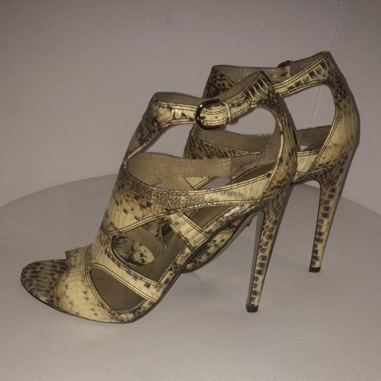 Sergio Rossi Beige and Brown Pumps