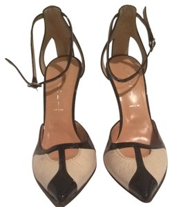 Casadei Black Patent And Beige Pumps