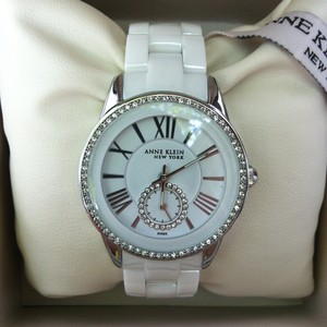 Anne Klein Anne Klein New York Women's Crystal Accented Ceramic Style 12/2199WTWB