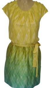 Guess short dress YELLOW CANARY/LIGHT BLUE/GREEN on Tradesy