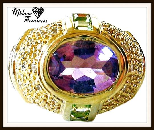 Preload https://item3.tradesy.com/images/purple-amethyst-citrine-and-peridot-domed-925-sterling-silver-14k-size-6-ring-3916207-0-0.jpg?width=440&height=440
