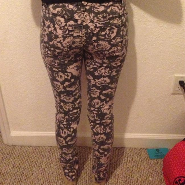 Forever 21 Skinny Pants Grey, Pink