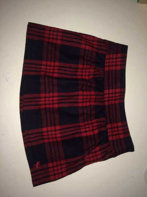 Abercrombie & Fitch Mini Skirt Red, Black