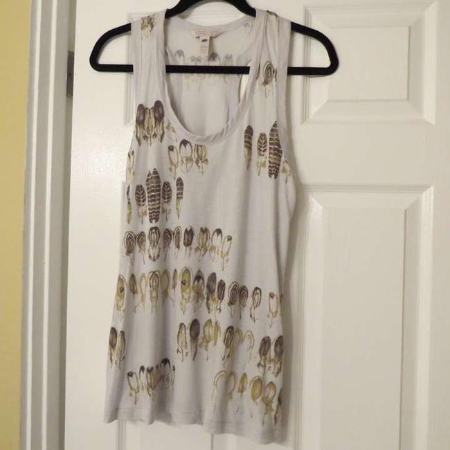 Banana Republic Vintage Fall Leaves Top Grey