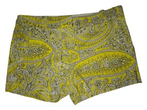 J.Crew Dress Shorts Yellow Patterned