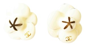 Chanel Chanel Ivory Camellia Flower Clip on Earrings