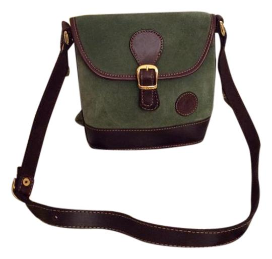 Preload https://img-static.tradesy.com/item/391729/green-and-chocolate-brown-suede-leather-cross-body-bag-0-3-540-540.jpg