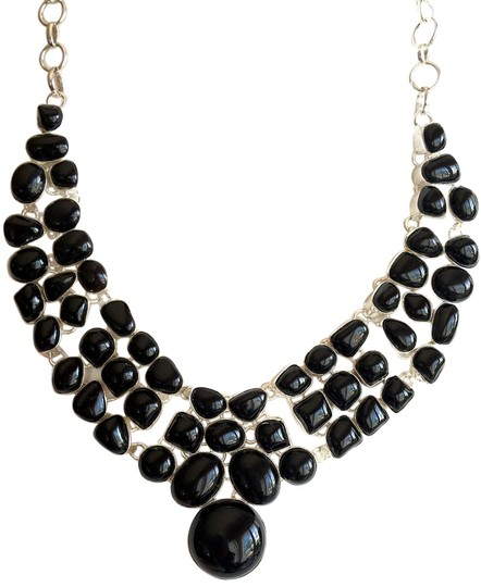 Preload https://item1.tradesy.com/images/other-black-onyx-925-sterling-silver-statement-necklace-3917305-0-2.jpg?width=440&height=440