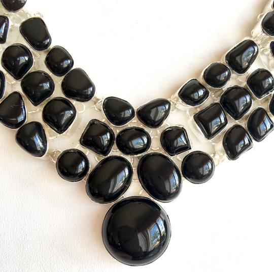 Other Black Onyx 925 Sterling Silver Statement Necklace
