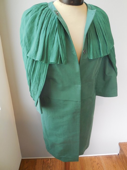 Ports 1961 Silk Cotton Designer Green Jacket