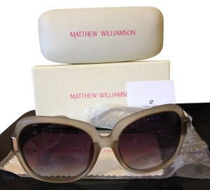 Matthew Williamson Matthew Williamson x Linda Farrow Gray Acetate OS Square Sunglasses